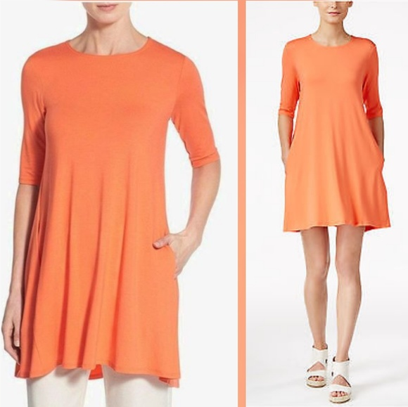 aca9d33530c7c5 Eileen Fisher Petite Tunic Dress. M 5b3971bfc9bf504e2035462e